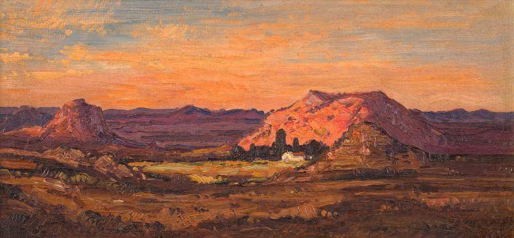 Jacob Hendrik Pierneef; Extensive Landscape, Dusk