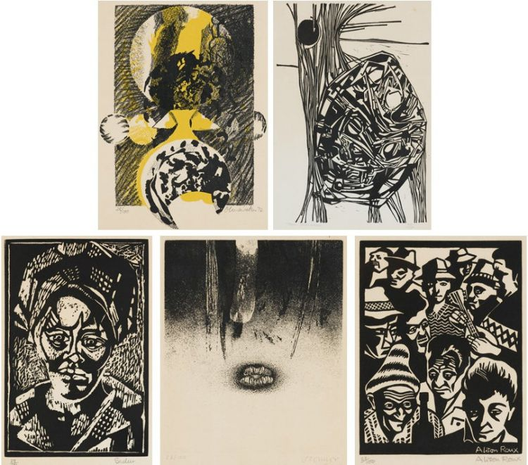 Various Artists; Prints from the Heather Martienssen Portfolio, five