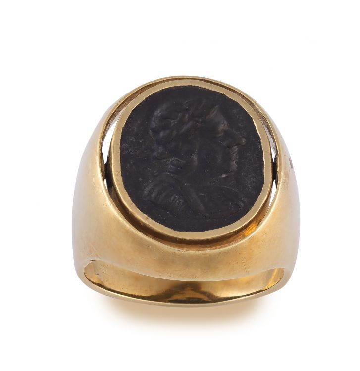 Gentleman's gold and intaglio ring, 19th century and later