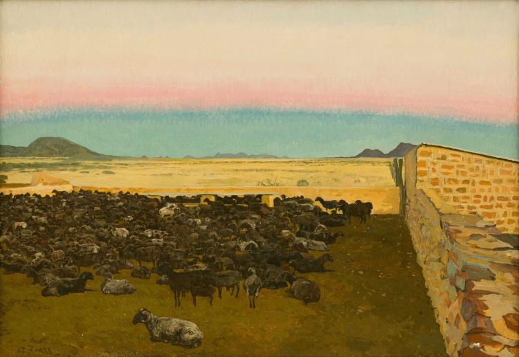 Adolph Jentsch; Evening, Sheepfold