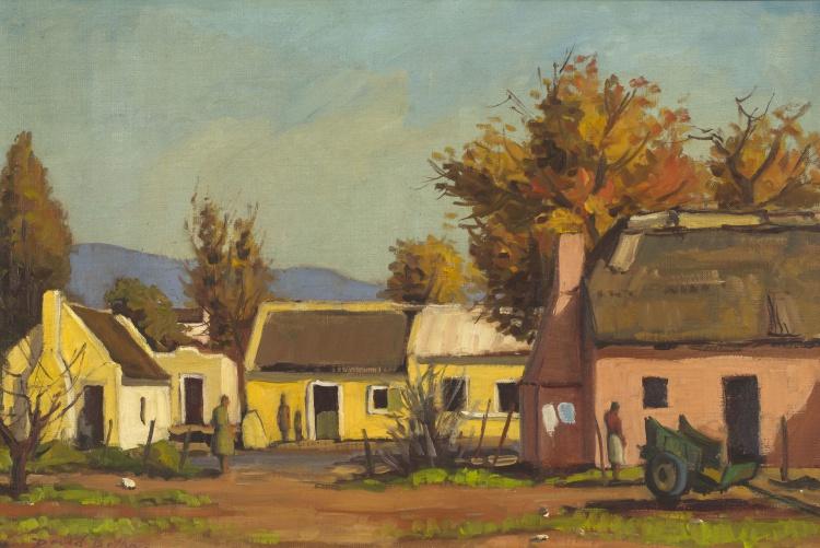 David Botha; Cape Cottages in Autumn