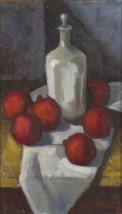 David Botha; Still Life with Pomegranates