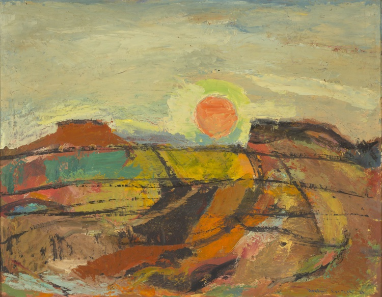 Herbert Coetzee; Abstract Table Mountain Landscape at Sunset