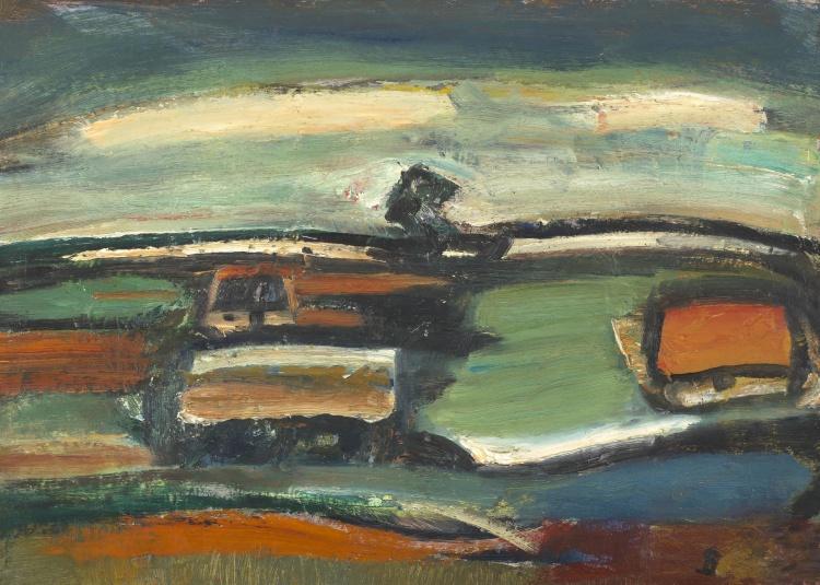 Pranas Domsaitis; Abstract Landscape
