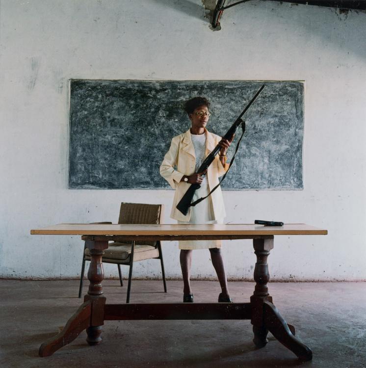 Mikhael Subotzky; Lindiwe Mutoma (Female Detective), Lusaka, Zambia, 2005