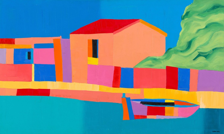 Trevor Coleman; Buildings and Boat, Naxos