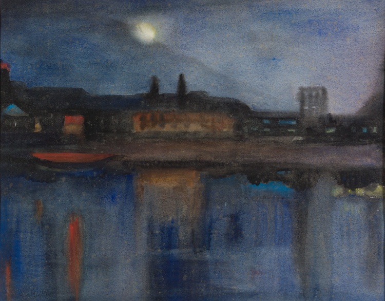 Maud Sumner; Moonlight over the Thames