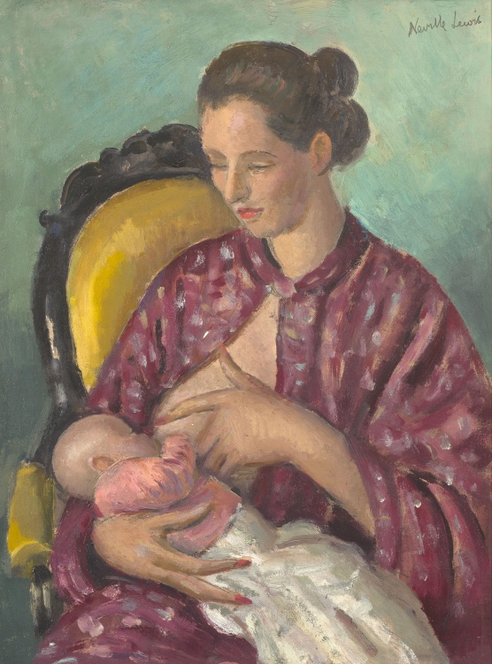 Alfred Neville Lewis; Nursing Mother and Child