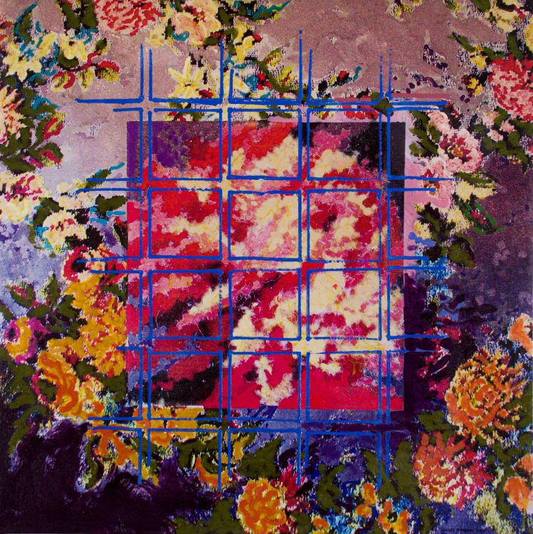 Henry Symonds; Floral Composition with Grid