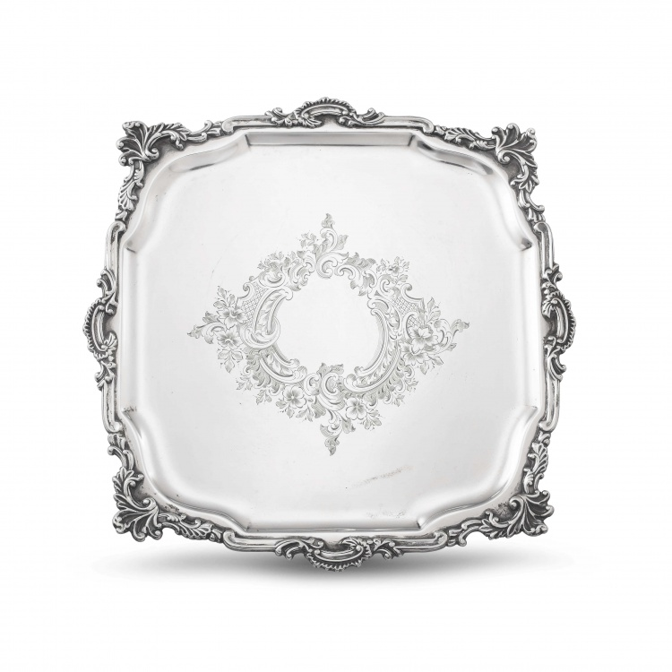 An Edward VII silver salver, Hawksworth, Eyre & Co Ltd, London, 1901 retailed by Boodle & Dunthorne, Liverpool