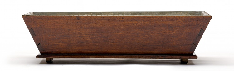 A fruitwood and zinc-lined trough, probably French, 20th century