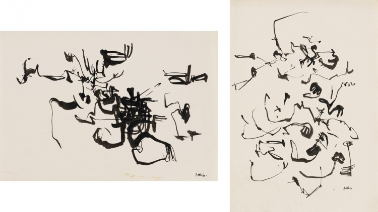 Walter Battiss; Abstract Compositions, two