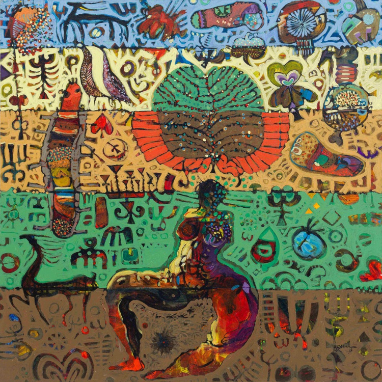 Hussein Salim; Composition with Abstract Forms