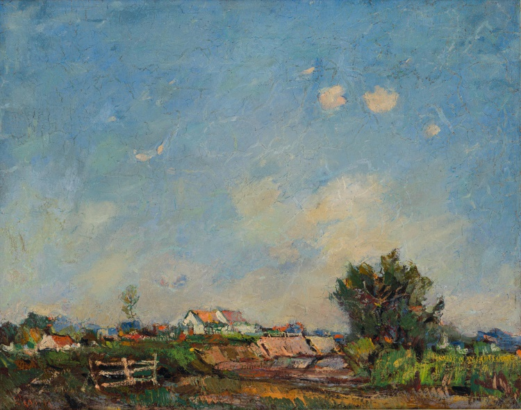 Pieter Wenning; Landscape with Farm Houses