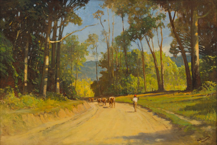 Walter Gilbert Wiles; Cattle on a Country Road
