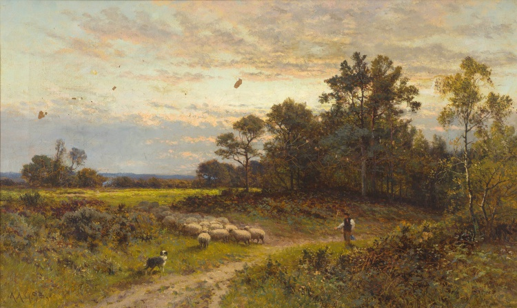 Alfred Glendening, Snr; A Shepherd and his Flock