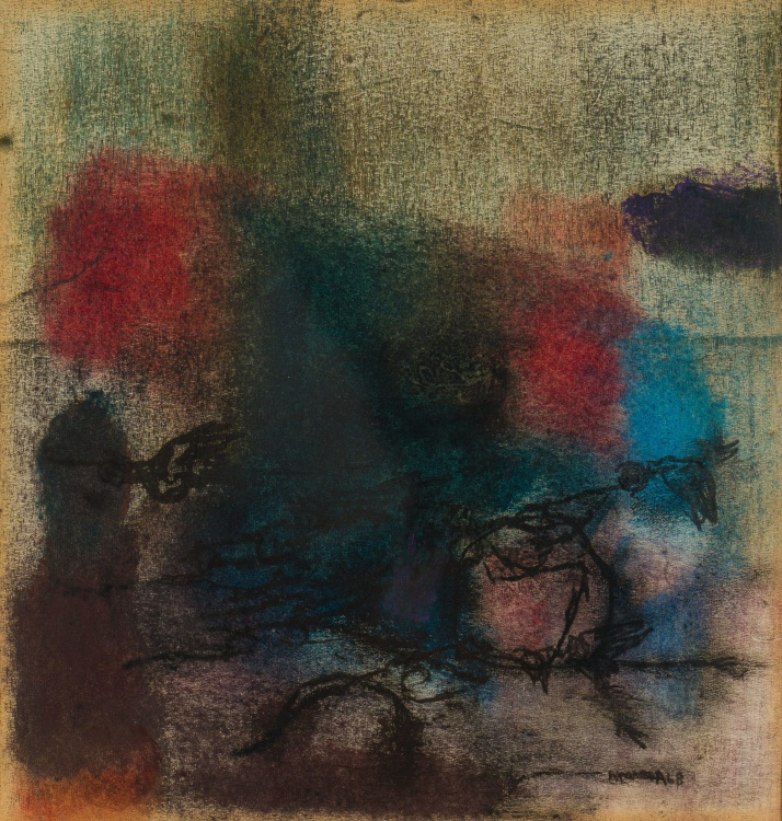 Louis Maqhubela; Abstract Composition with Birds