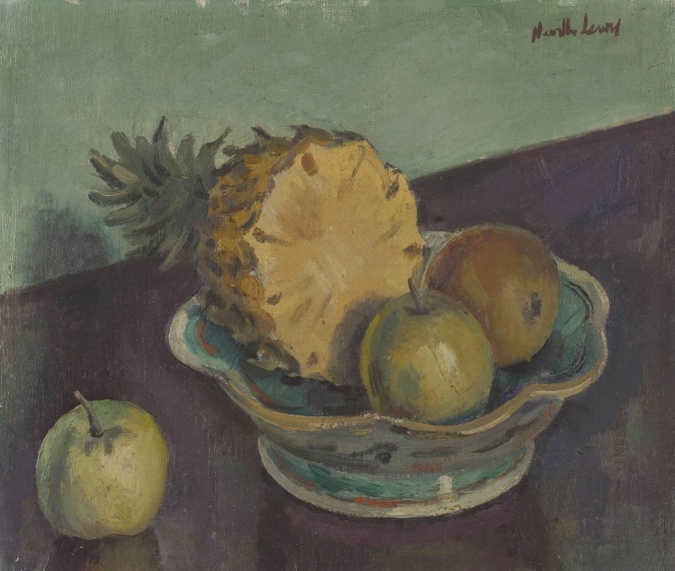 Alfred Neville Lewis; Fruit in a Bowl