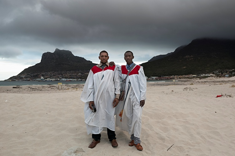 David Lurie; Members of the Illitye Zion Church of God, Sunday Morning, Hout Bay Beach