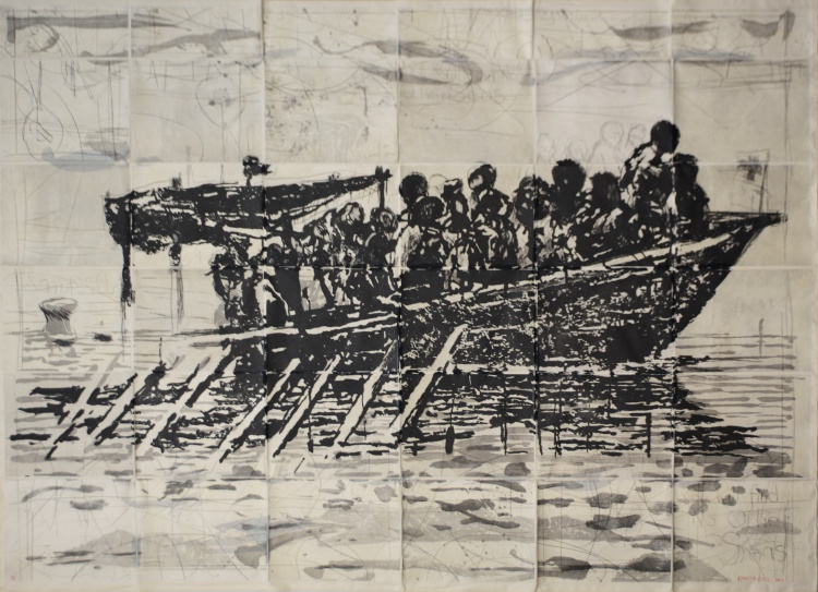 William Kentridge; Refugees (You Will Find No Other Seas)
