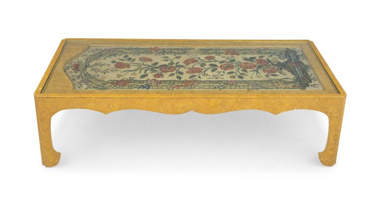 A painted and gilt occasional table