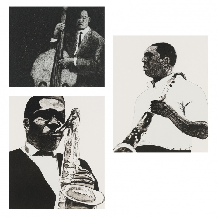 Sam Nhlengethwa; Musical Performers, three