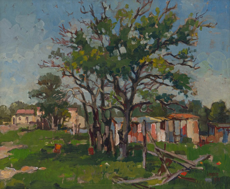 Gregoire Boonzaier; Houses and Trees