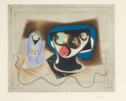 Pablo Picasso; Composition au Verre et Compotier