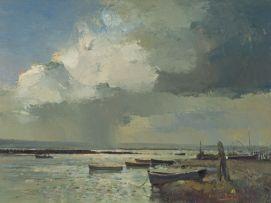 Errol Boyley; Estuary with Boats
