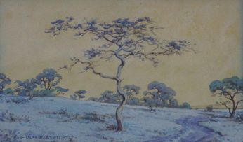 Erich Mayer; Landscape with a Winding Path and Trees