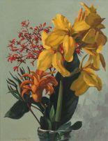 Willem Hermanus Coetzer; A Still Life of Flowers