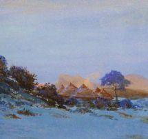 Walter Battiss; Huts in a Landscape