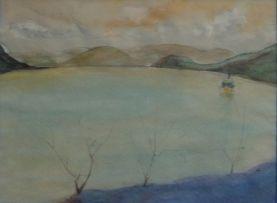 Maud Sumner; A Boat on a Lake