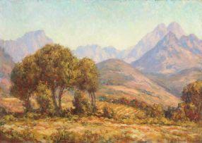 Edward Roworth; Stellenbosch Mountains from Beverly Hill