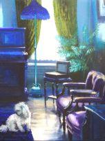 Marié Vermeulen-Breedt; Interior with Dark Red Armchair, Sammy Marks Museum