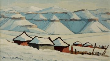 David Botha; Rondavels in the Snow, Lesotho