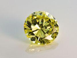 An unset round brilliant-cut diamond