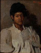 Frans Oerder; Woman in a White Blouse