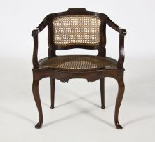 A Cape stinkwood and cane tub chair, early 19th century