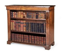 A Regency mahogany and brass inlaid bookshelf