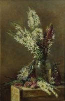 Attributed to Amy Beatrice Hazell; Still Life with Erica Colorans