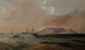 Thomas Bowler; Sailing in Table Bay