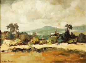 Alexander Rose-Innes; Landscape with Church Spire