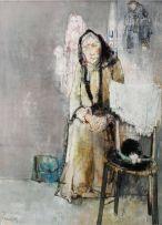 Jean Jansem; Vielle Dame Aux Marionettes