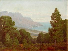 Jan Ernst Abraham Volschenk; Glimpse of Camps Bay from Kloof Nek