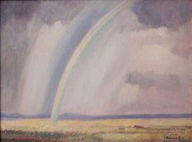 Jacob Hendrik Pierneef; Rainbow over the Springbok Flats