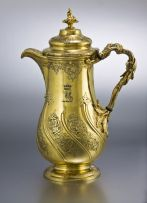 A George IV silver-gilt coffee pot, Paul Storr for Storr & Mortimer, London, 1829