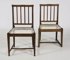 A pair of Cape stinkwood side chairs, mid 19th century