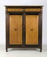 A Cape stinkwood and yellowwood inlaid cupboard, 19th century