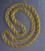 An 18ct yellow and white gold necklace